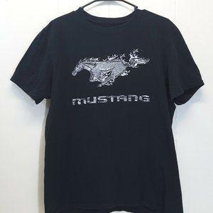 Ford Mustang L T Shirt Black Horse Logo Car 42 44